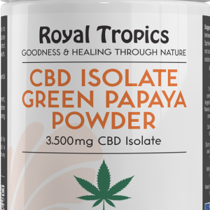 cbd isolate green papaya powder