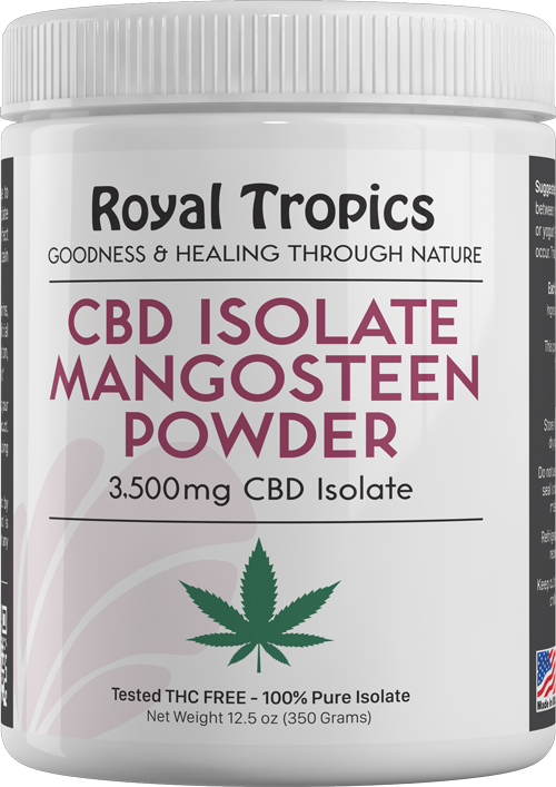 cbd isolate mangosteen powder